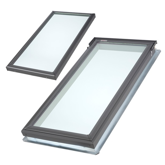 Velux fixed skylight deck or curb mounted for Dimension fenetre de toit velux