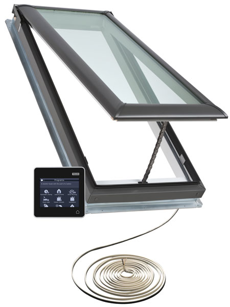 Velux skylights skylight windows solar electric for Skylight with remote control