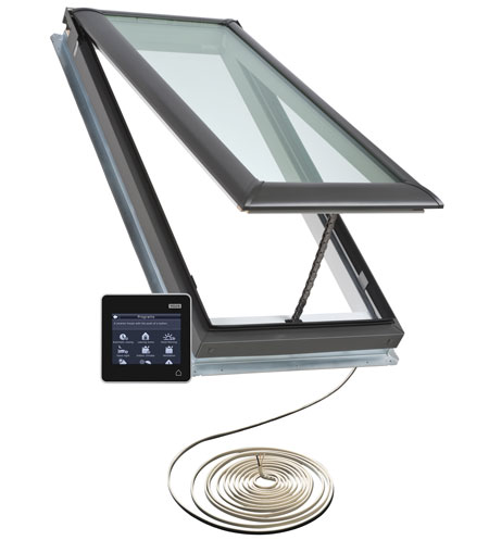 Velux electric venting skylight curb or deck mounted for Remote control skylights
