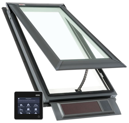 Velux skylights skylight windows solar electric for Velux skylight remote control