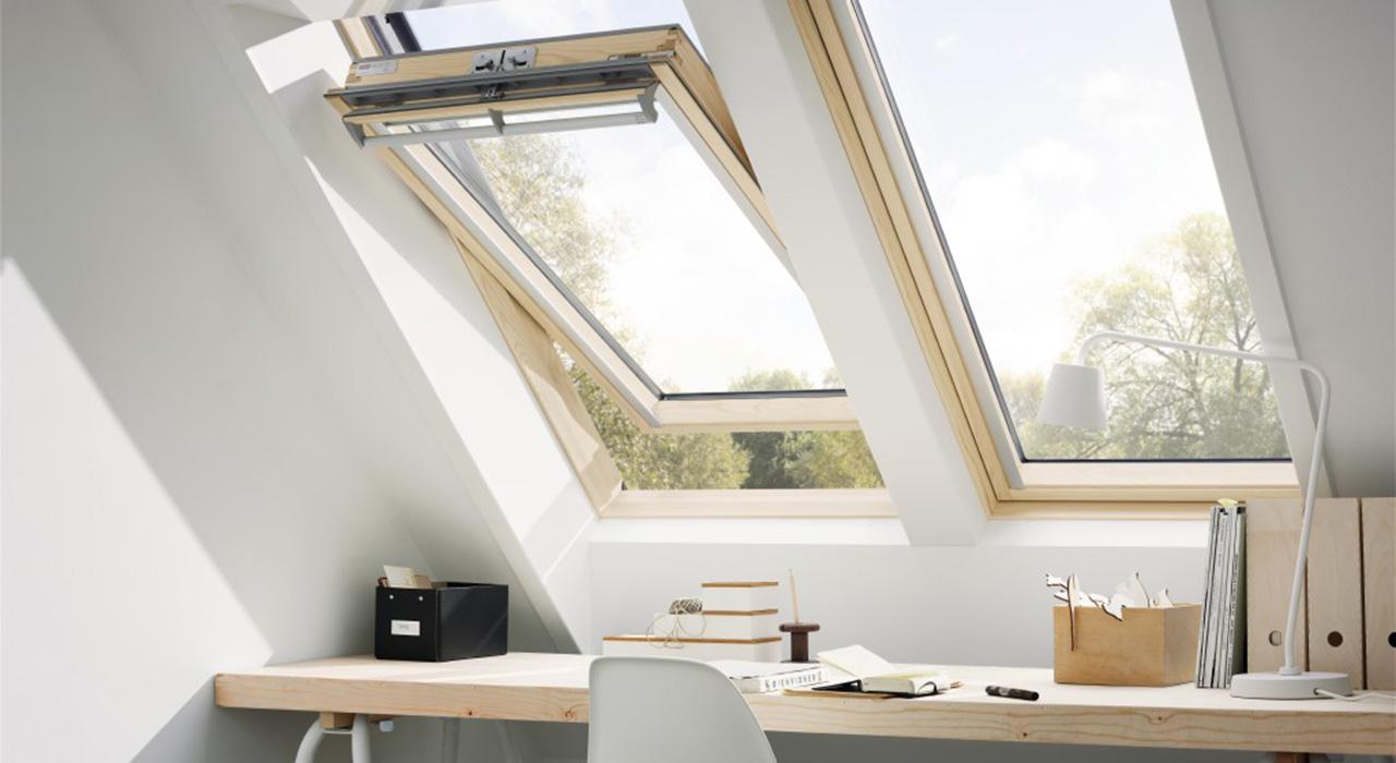 velux home office inspiration gallery. Black Bedroom Furniture Sets. Home Design Ideas