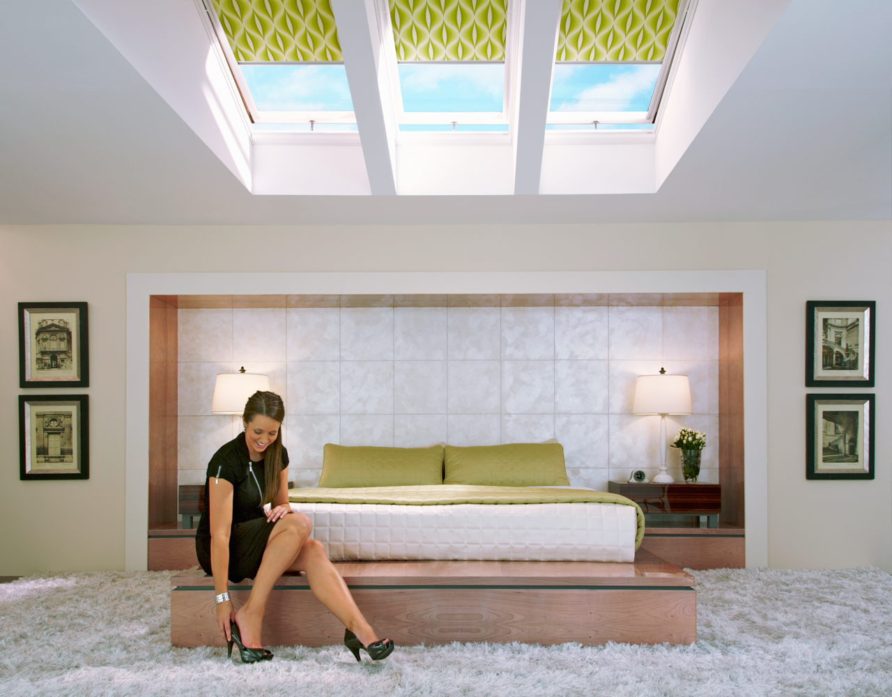 Velux bedroom inspiration gallery of images for Velux window blinds remote control